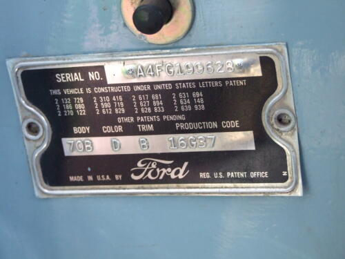 1954 Ford Customline Tudor Sedan Information and Identification 43 Pictures